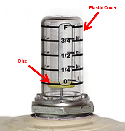 If you think you are out of heating oil, go down to the float gauge on the fuel oil tank. Remove the plastic vial and press down on the level indicator disc to see if the float is actually floating in oil. If it does not move freely, then the gauge is stuck or the heating oil tank is likely empty.