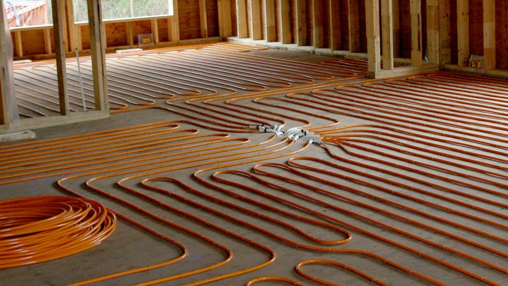 radiant floor heat makes for an extremely cozy living space in the winter months