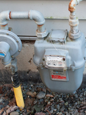 gas or oil heat natural gas meter