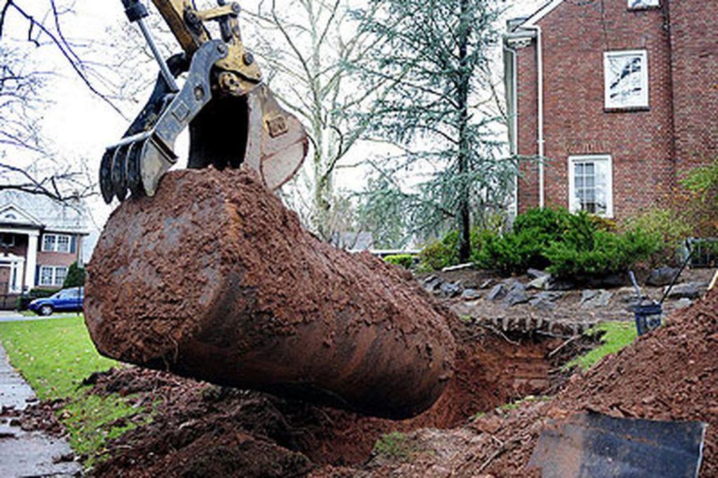 removing an underground heating oil tank