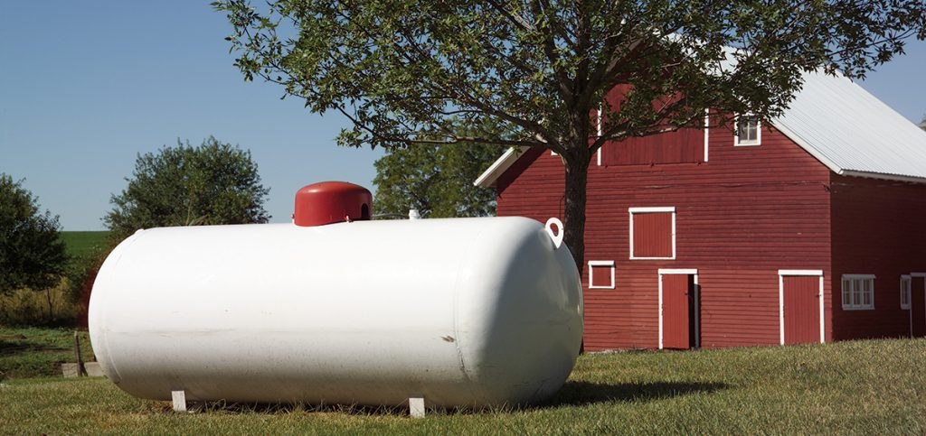 above ground propane storage tank
