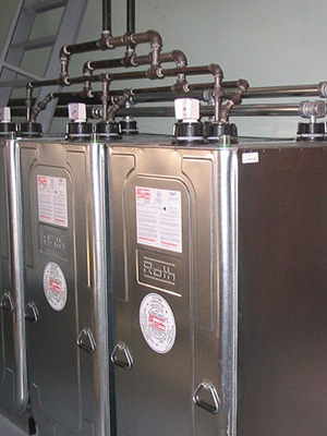 side by side roth oil tanks