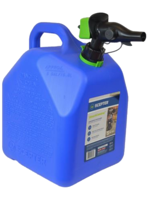 blue can for kerosene