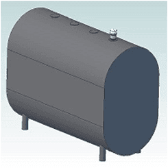 275 Vertical Home Heating Oil Tank