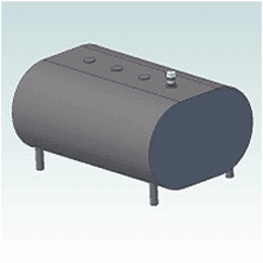 275 Horizontal Home Fuel Oil Tank