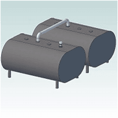 Dual 275 Horizontal Home Fuel Oil Tanks
