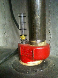 a float gauge for manually measuring heating oil tanks