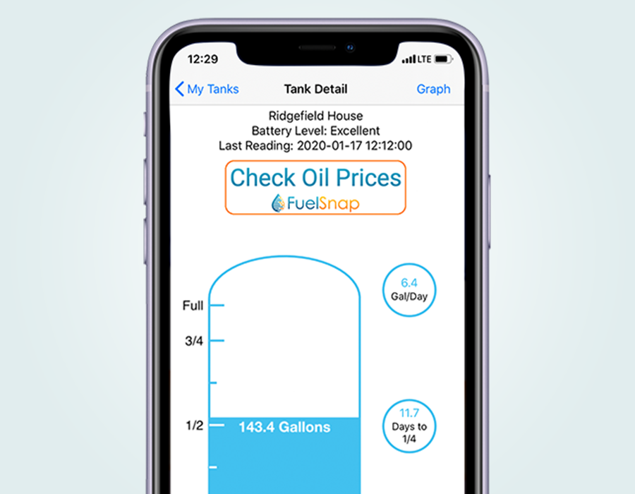 An app for analyzing your home heating oil consumption with Smart Oil Gauge